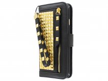 Studs Roxie Bookcase Goud - iPhone 6/6s hoesje