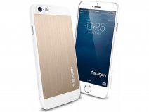 Spigen Aluminium Fit Case Goud - iPhone 6/6s hoesje