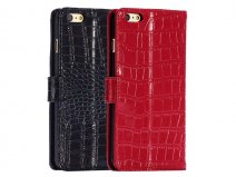 Croco Leather Bookcase - iPhone 6 Plus/6S Plus hoesje