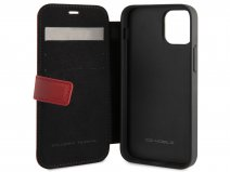 Ferrari Off Track Perforated Leather Bookcase Rood - iPhone 12 Mini Hoesje