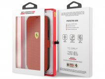 Ferrari On Track Perforated Bookcase Rood - iPhone 12 Mini Hoesje