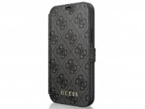 Guess 4G Monogram Bookcase Grijs - iPhone 12 Mini hoesje