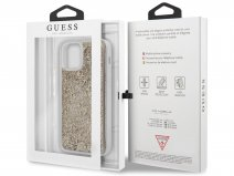 Guess 4G Monogram Glitter Case - iPhone 12 Mini hoesje