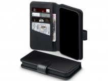 CaseBoutique Leather Wallet Zwart Leer - iPhone 12/12 Pro hoesje