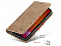CaseMe Vintage Bookcase Tan - iPhone 12/12 Pro hoesje
