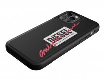 Diesel Embroided Case Zwart/Coral - iPhone 12/12 Pro hoesje
