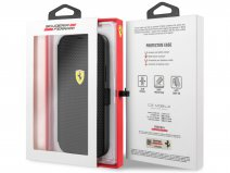 Ferrari On Track Perforated Bookcase Zwart - iPhone 12/12 Pro Hoesje