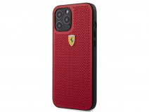Ferrari Perforated PU Case Rood - iPhone 12/12 Pro Hoesje