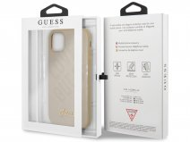 Guess Love Script Case Goud - iPhone 12/12 Pro hoesje