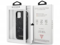 Guess Marble Case Zwart - iPhone 12/12 Pro hoesje