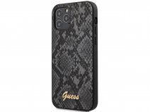 Guess Python Case Zwart - iPhone 12/12 Pro hoesje