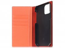 SLG Design D8 Folio Leer Coral - iPhone 12/12 Pro hoesje