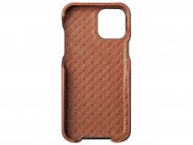 Vaja Grip Leather Case Cognac - iPhone 12/12 Pro Hoesje Leer