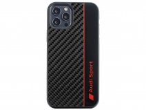 Audi R8 Series Carbon Case Zwart - iPhone 12 Pro Max hoesje