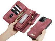 CaseMe 2in1 Wallet Case met Ritsvak Rood - iPhone 12 Pro Max Hoesje