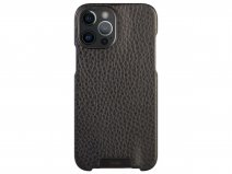 Vaja Grip Leather Case Zwart - iPhone 12 Pro Max Hoesje Leer