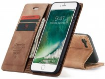 CaseMe Vintage BookCase Tan - iPhone SE 2020 / 8 / 7 hoesje