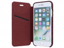 Graffi Oyster Croco Bordeaux Leer - iPhone SE 2020 / 8 / 7 / 6(s) hoesje
