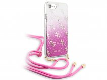 Guess 4G Necklace Case Roze - iPhone SE 2020 / 8 / 7 / 6 hoesje