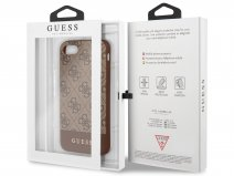 Guess 4G Monogram Case Bruin - iPhone SE 2020 / 8 / 7 / 6 hoesje