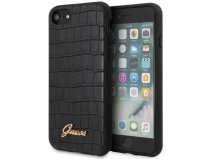 Guess Croco Case Zwart - iPhone SE 2020 / 8 / 7 / 6 hoesje