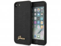 Guess Lizard Case Zwart - iPhone SE 2020 / 8 / 7 / 6 hoesje