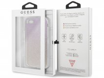 Guess Glitter TPU Case Gold Pink - iPhone SE 2020 / 8 / 7 / 6 hoesje