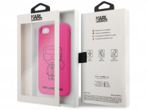 Karl Lagerfeld Iconic Neon Pink - iPhone SE 2020 / 8 / 7 / 6 hoesje