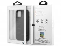 BMW Signature Case Zwart Leer - iPhone 11 hoesje