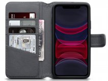 CaseBoutique Leather Wallet Grijs Leer - iPhone 11 hoesje