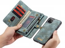 CaseMe 2in1 Wallet Ritsvak Case Blauw - iPhone 11 Hoesje