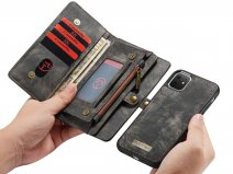 CaseMe 2in1 Wallet Ritsvak Case Zwart - iPhone 11 Hoesje