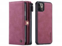 CaseMe Multi Wallet Ritsvak Case Rood - iPhone 11/XR Hoesje