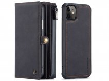 CaseMe Multi Wallet Ritsvak Case Zwart - iPhone 11/XR Hoesje