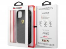 Ferrari Dual Layer Case Carbon Zwart - iPhone 11/XR Hoesje