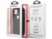 Ferrari Silicon Hard Case Zwart - iPhone 11/XR Hoesje