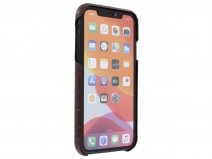 Graffi Cover Croco Bruin Leer - iPhone 11 hoesje
