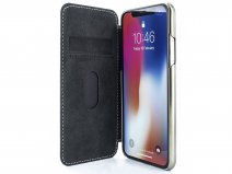 Greenwich Blake Folio Saddle/Gunmetal - iPhone 11 Hoesje Leer