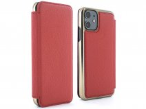 Greenwich Blake Folio Scarlet/Gold - iPhone 11 Hoesje Leer