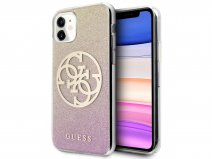 Guess 4G Glitter TPU Case Gold Pink - iPhone 11/XR hoesje