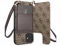 Guess 4G Crossbody Case Bruin - iPhone 11/XR hoesje
