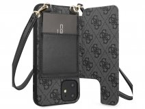 Guess 4G Crossbody Case Grijs - iPhone 11/XR hoesje