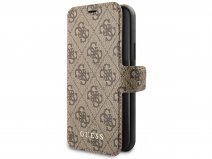 Guess Monogram Bookcase Bruin - iPhone 11 hoesje