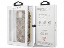 Guess Monogram Hard Case Bruin - iPhone 11/XR hoesje