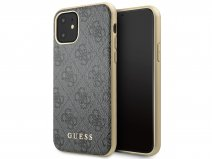 Guess Monogram Hard Case Grijs - iPhone 11/XR hoesje