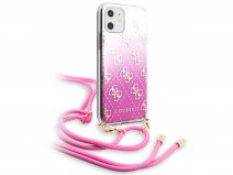 Guess 4G Necklace Case Roze - iPhone 11/XR hoesje