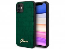 Guess Croco Case Groen - iPhone 11/XR hoesje