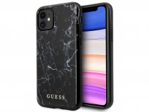 Guess Marble Look Case Zwart - iPhone 11/XR hoesje