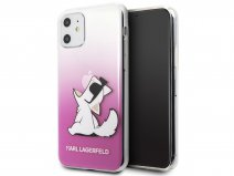 Karl Lagerfeld Fun Choupette Case Roze - iPhone 11/XR hoesje