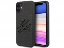 Karl Lagerfeld Initials Case Lizard - iPhone 11/XR hoesje